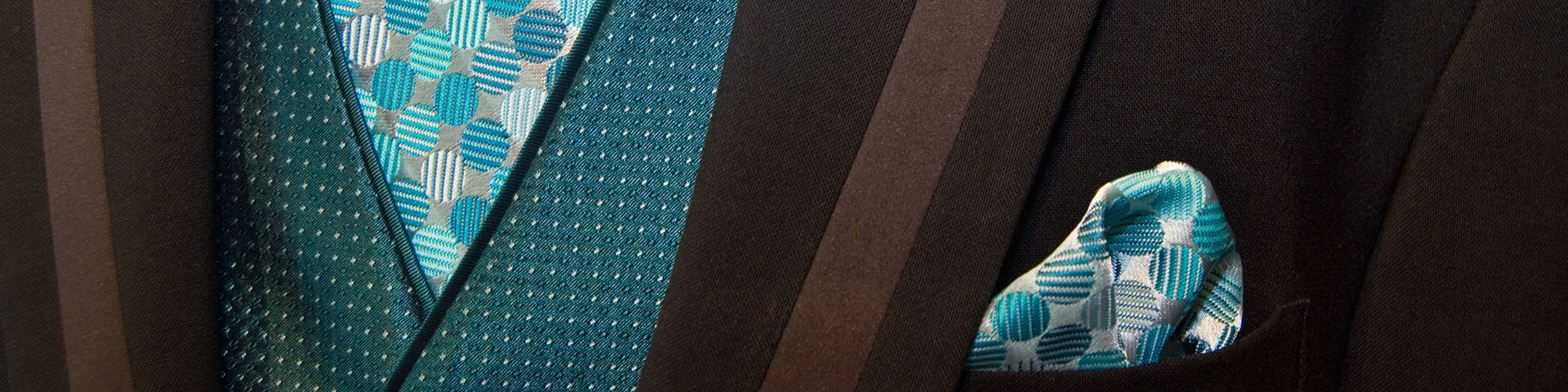 Close Up of Vest, Tie, and Pocket Square